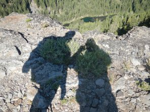 """At the """"top"""" over looking the Truckee River"""