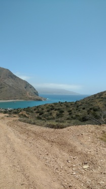 Up we climb rising above Catalina Harbor, the other side of the Isthmus Cove where we came into
